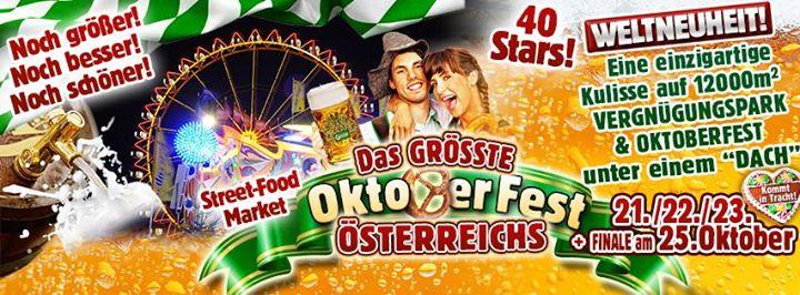 Schwarzl See JÜRGEN DREWS, VOXXCLUB, DIE JUNGEN ZILLERTALER und 37 weitere TOP-ACTS, Street Food Market uvm 23.10.2016 13:00
